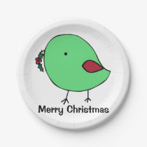 Little chick holiday paper plate