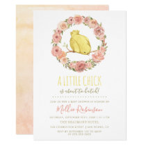Little Chick Is About To Hatch Floral Baby Shower Card
