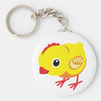 little chicken basic round button keychain