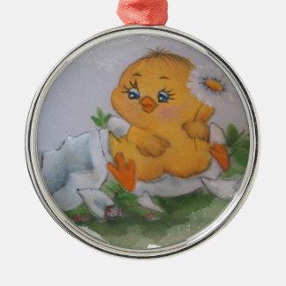 Little chicken christmas ornament
