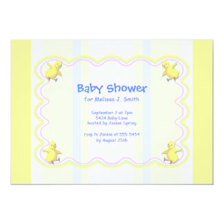 Little Chickens Baby Shower 5x7 Paper Invitation Card