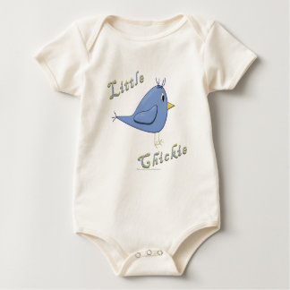 Little Chickie Blue Baby Bodysuit