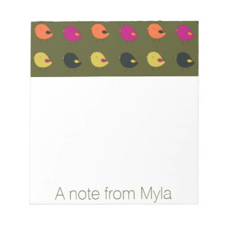 Little chicks custom notepad
