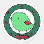 Little chicks holiday round sticker