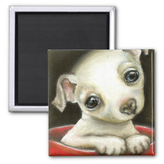 Little Chihuahua 2 Inch Square Magnet
