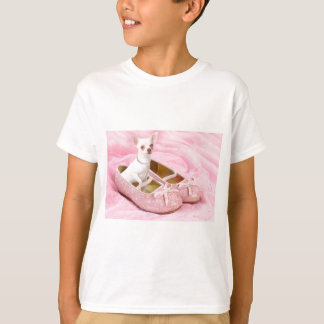 Little chihuahua in pink girly shoes with glitter T-Shirt
