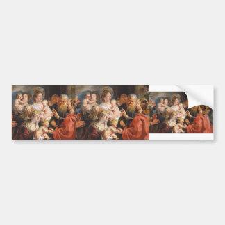 Little Children to Come Unto Me by Jacob Jordaens Bumper Stickers