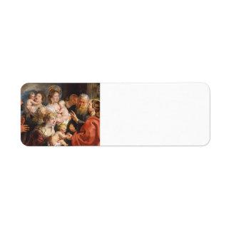 Little Children to Come Unto Me by Jacob Jordaens Return Address Label