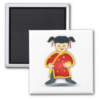 Little Chinese Girl Magnet