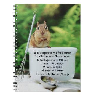 Little chipmunk Chef Recipe Notebook
