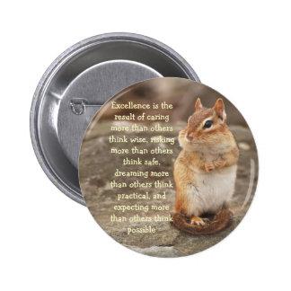 Little Chipmunk Excellence Quote Button