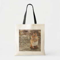 Little Chipmunk Excellence Quote Totebag Tote Bag