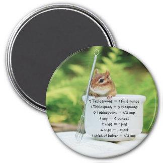 Little Chipmunk Measurement Equivalents Magnet