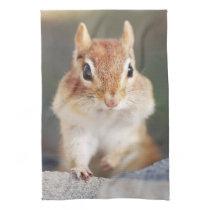 Little Chipmunk Portrait Hand Towel