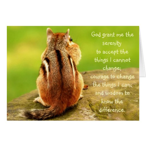 Little Chipmunk Serenity Prayer Card