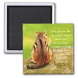 Little Chipmunk Serenity Prayer Magnet