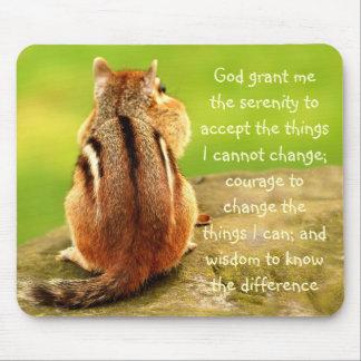 Little Chipmunk Serenity Prayer Mousepad