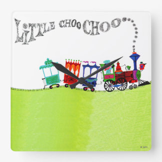 Little Choo Choo Square Wall Clock