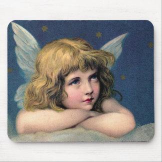 Little christmas angel alfombrillas de raton