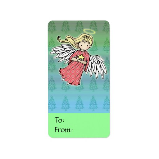 Little Christmas Angel Gift Tags Address Label