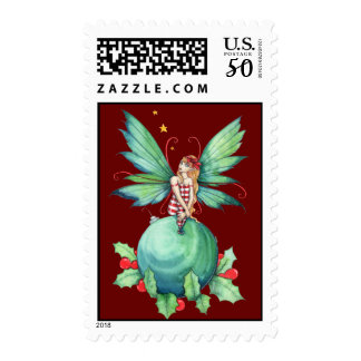 Little Christmas Fairy Postage Stamps