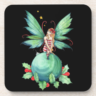 Little Christmas Fairy set of Coasters