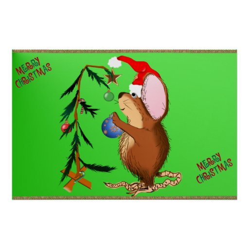 Little Christmas Mouse Poster