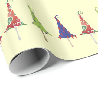 Little Christmas Trees Pattern Wrapping Paper