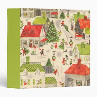Little Christmas Village 3 Ring Binder