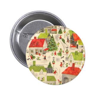 Little Christmas Village Buttons