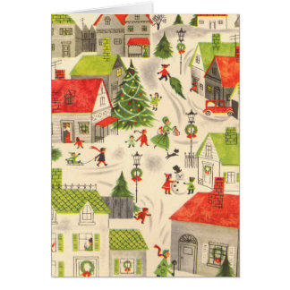 Little Christmas Village Card