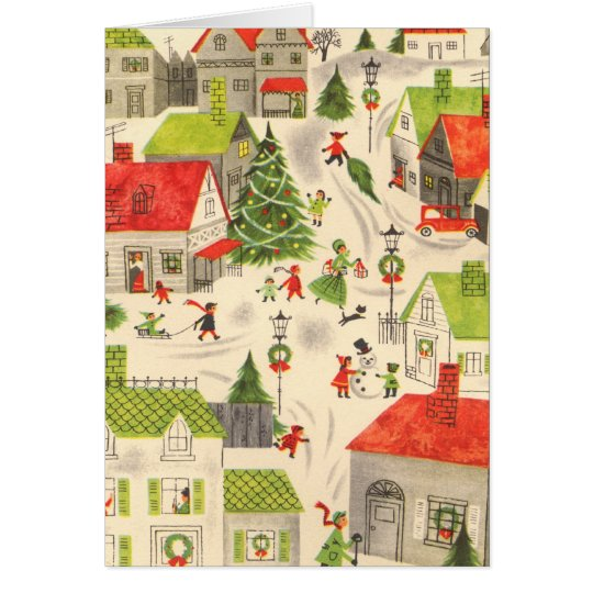 Little Christmas Village Card