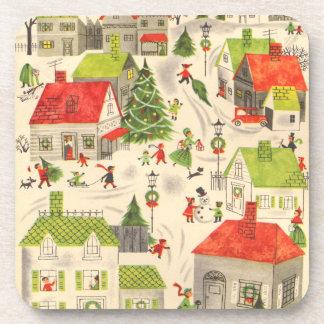 Little Christmas Village Beverage Coasters