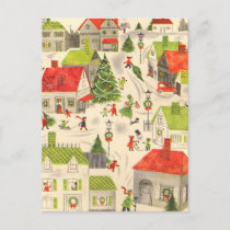 Little Christmas Village Holiday Postcard