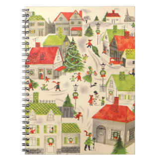 Little Christmas Village Notebook