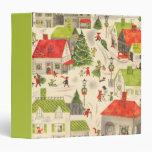 Little Christmas Village Vinyl Binders