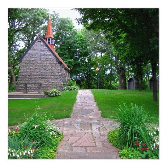 Little church grasshopper chapel sanctuary photo card