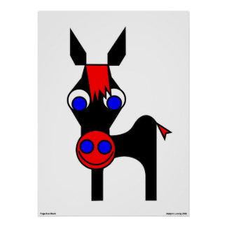 Little Claus and Big Claus - Black Horse Poster