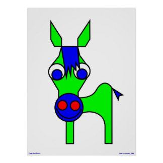Little Claus and Big Claus - Green Horse Poster