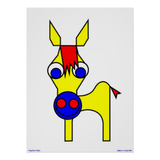 Little Claus and Big Claus - Yellow Horse Poster