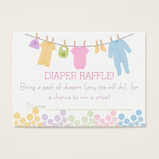 Little Clothes Baby Shower Diaper Raffle Tickets