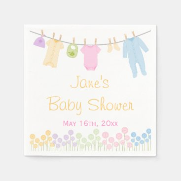 Toddler & Baby themed Little Clothes Baby Shower Napkins