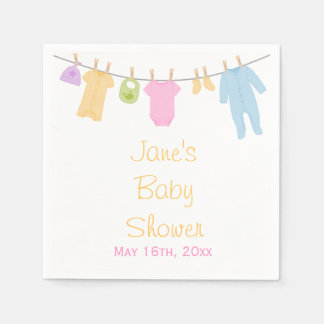 Little Clothes Baby Shower Napkins