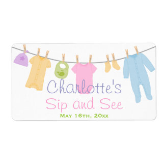 Little Clothes Baby Sip and See Label