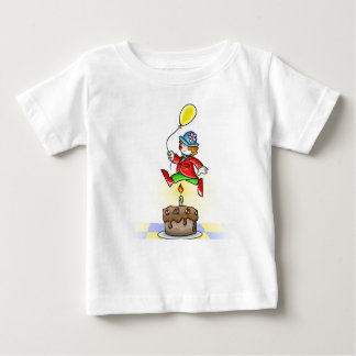 Little Clown Jumping Over Candle with Balloon Baby T-Shirt