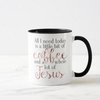 Little Coffee, Lot of Jesus Mug - Rose