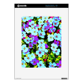 Little Colorful Flowers Decals For The iPad