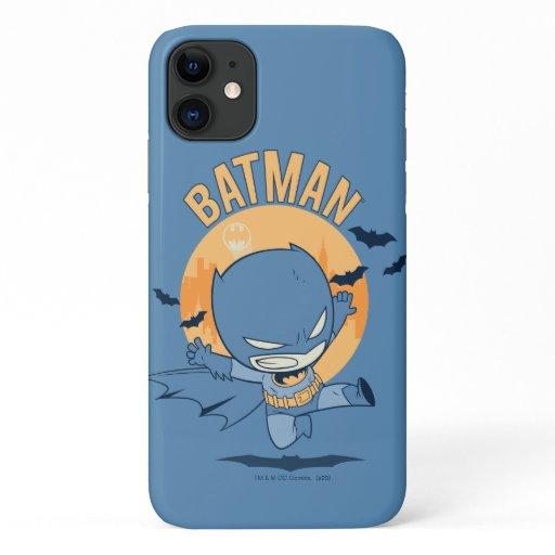 Little Comic Batman Flying Kick iPhone 11 Case