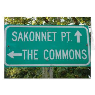 Little Compton, RI - Commons, Sakonnet Point Card