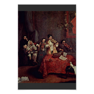 Little Concert By Longhi Pietro (Best Quality) Poster